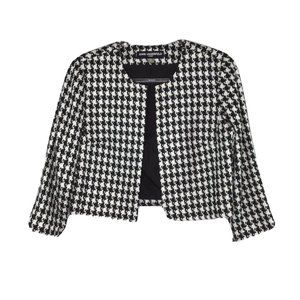 Karl Lagerfeld Open Front Jacket Small Houndstooth